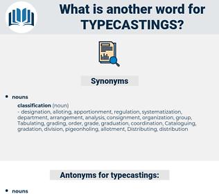 typecastings, synonym typecastings, another word for typecastings, words like typecastings, thesaurus typecastings