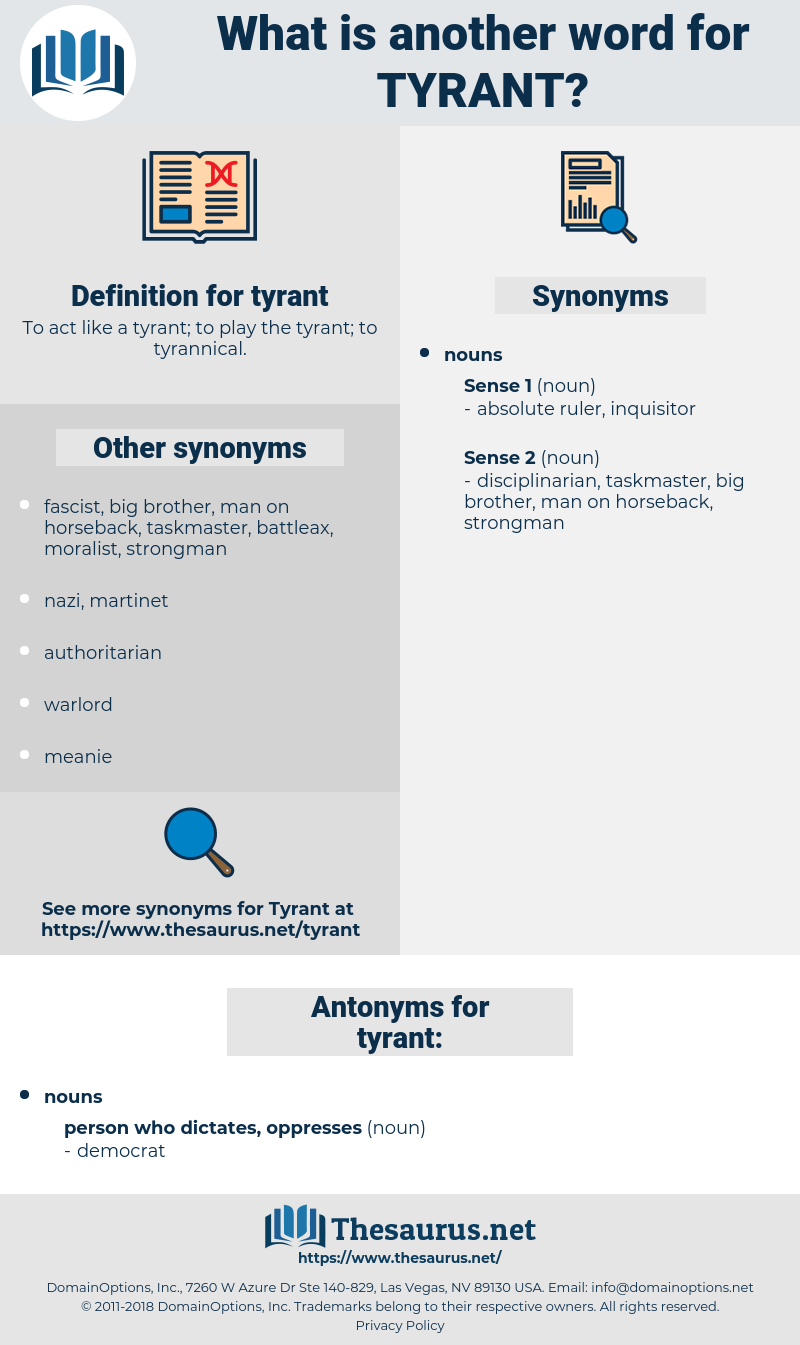 Synonyms For Tyrant Antonyms For Tyrant Thesaurus Net