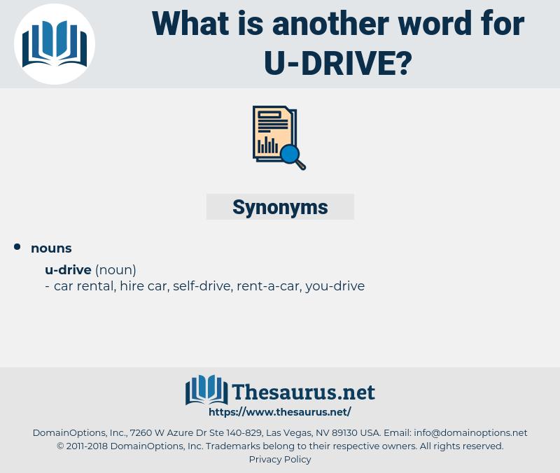 u-drive, synonym u-drive, another word for u-drive, words like u-drive, thesaurus u-drive