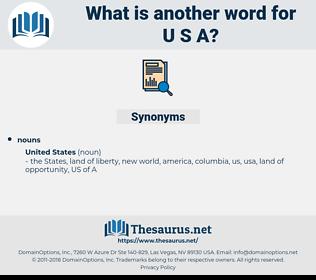 U.S.A., synonym U.S.A., another word for U.S.A., words like U.S.A., thesaurus U.S.A.