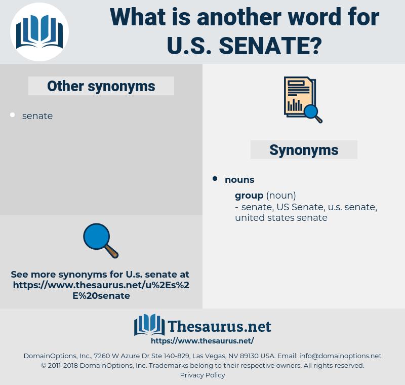 u.s. senate, synonym u.s. senate, another word for u.s. senate, words like u.s. senate, thesaurus u.s. senate