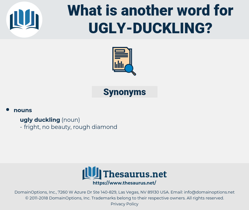 ugly duckling, synonym ugly duckling, another word for ugly duckling, words like ugly duckling, thesaurus ugly duckling