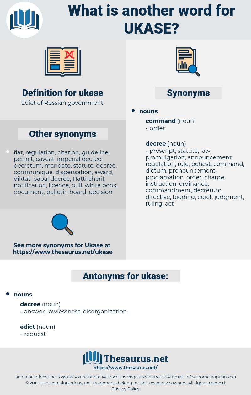 ukase, synonym ukase, another word for ukase, words like ukase, thesaurus ukase