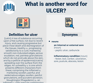 ulcer, synonym ulcer, another word for ulcer, words like ulcer, thesaurus ulcer