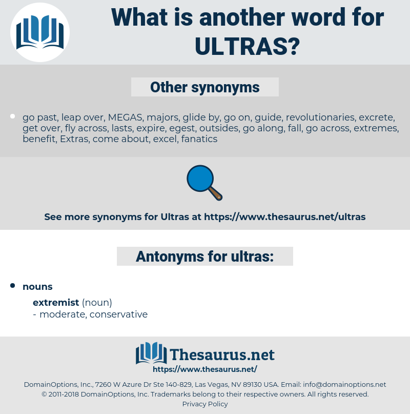 ultras, synonym ultras, another word for ultras, words like ultras, thesaurus ultras