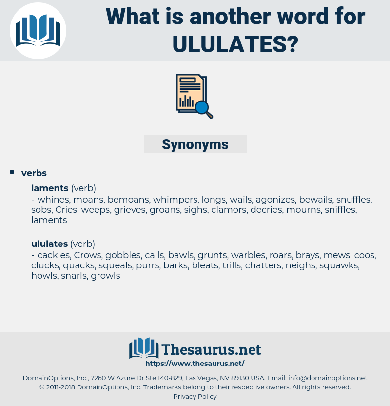 ululates, synonym ululates, another word for ululates, words like ululates, thesaurus ululates