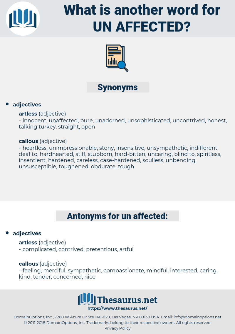 un-affected, synonym un-affected, another word for un-affected, words like un-affected, thesaurus un-affected