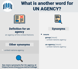 un agency, synonym un agency, another word for un agency, words like un agency, thesaurus un agency