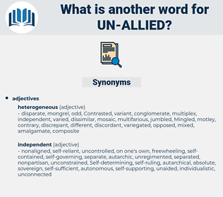 un allied, synonym un allied, another word for un allied, words like un allied, thesaurus un allied