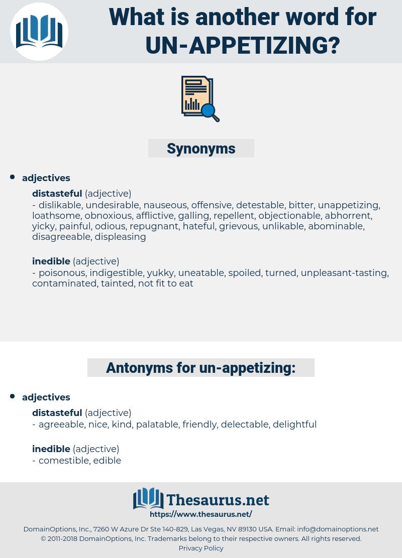 un appetizing, synonym un appetizing, another word for un appetizing, words like un appetizing, thesaurus un appetizing