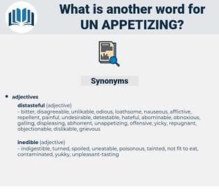 un-appetizing, synonym un-appetizing, another word for un-appetizing, words like un-appetizing, thesaurus un-appetizing