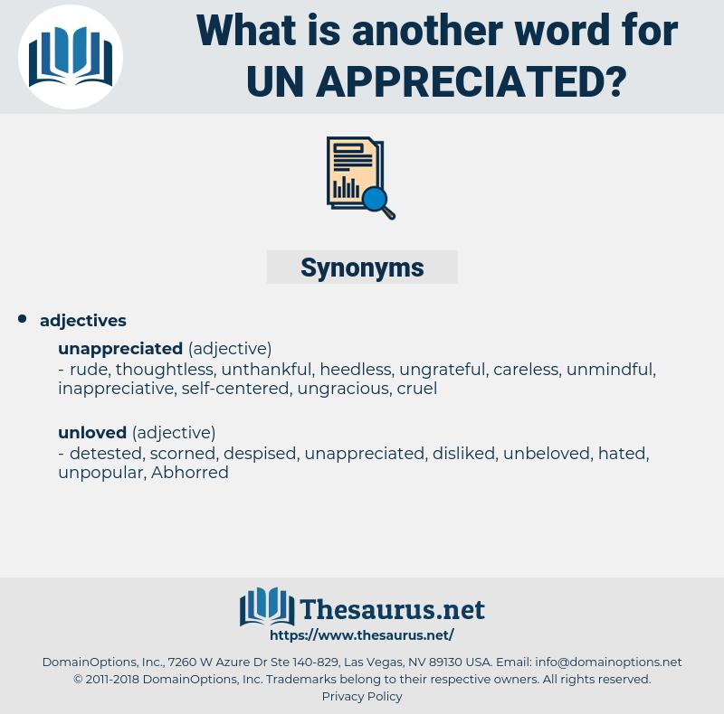 un-appreciated, synonym un-appreciated, another word for un-appreciated, words like un-appreciated, thesaurus un-appreciated
