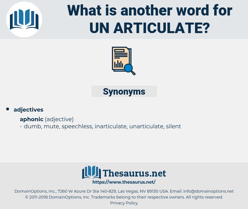 un-articulate, synonym un-articulate, another word for un-articulate, words like un-articulate, thesaurus un-articulate