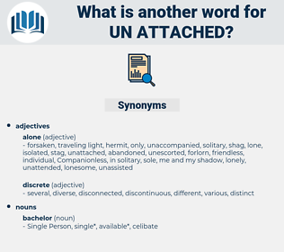 un attached, synonym un attached, another word for un attached, words like un attached, thesaurus un attached