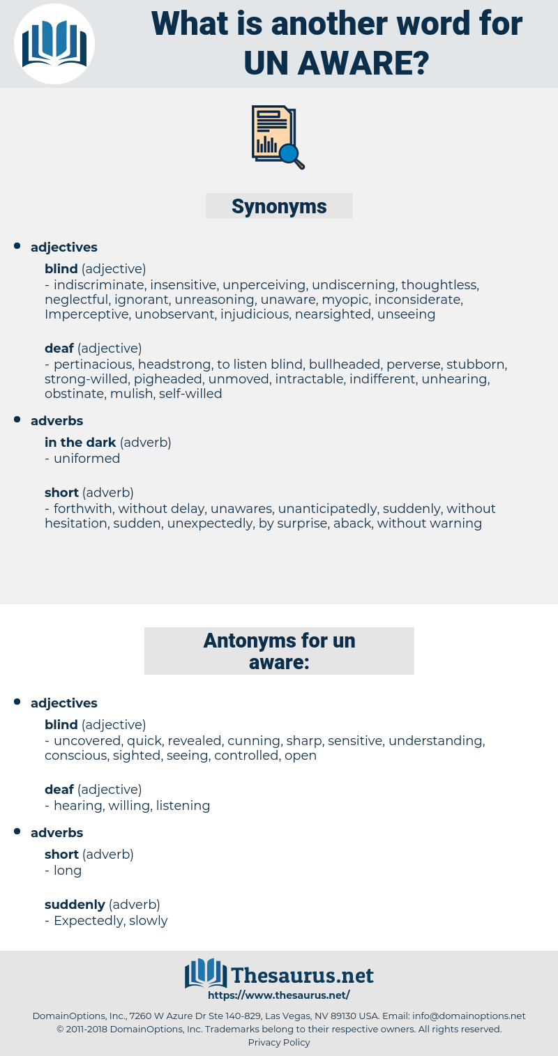 un-aware, synonym un-aware, another word for un-aware, words like un-aware, thesaurus un-aware