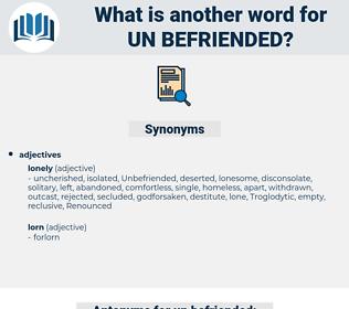 un befriended, synonym un befriended, another word for un befriended, words like un befriended, thesaurus un befriended