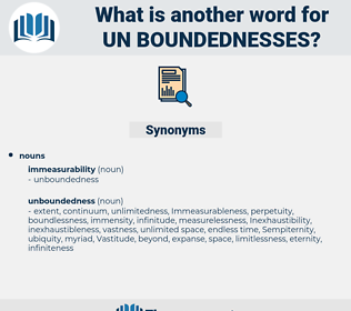 un-boundednesses, synonym un-boundednesses, another word for un-boundednesses, words like un-boundednesses, thesaurus un-boundednesses