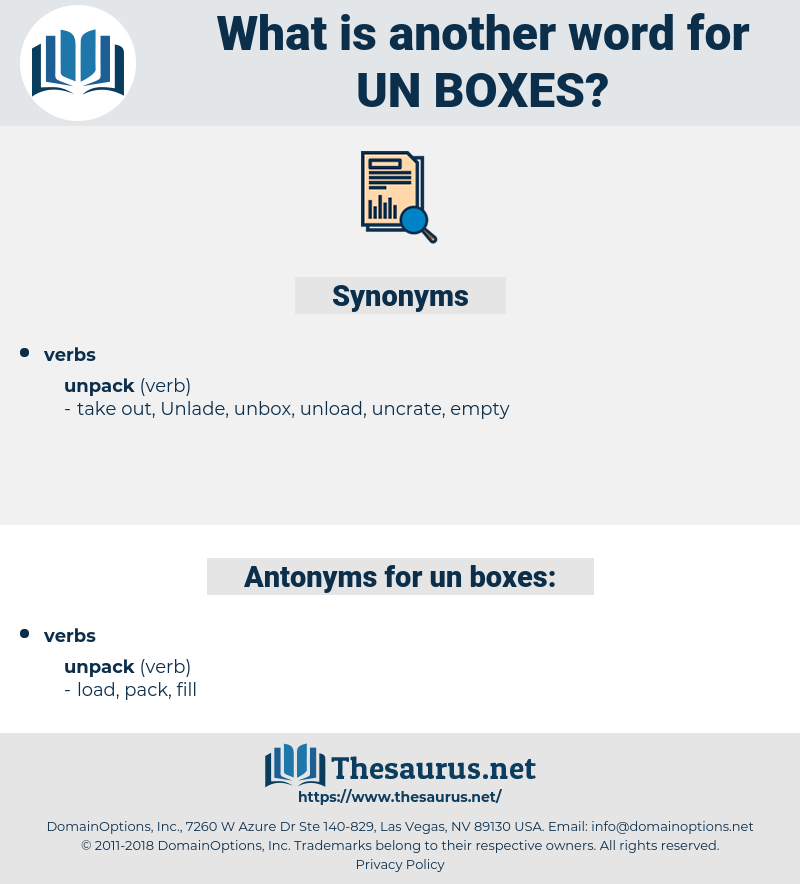 un boxes, synonym un boxes, another word for un boxes, words like un boxes, thesaurus un boxes
