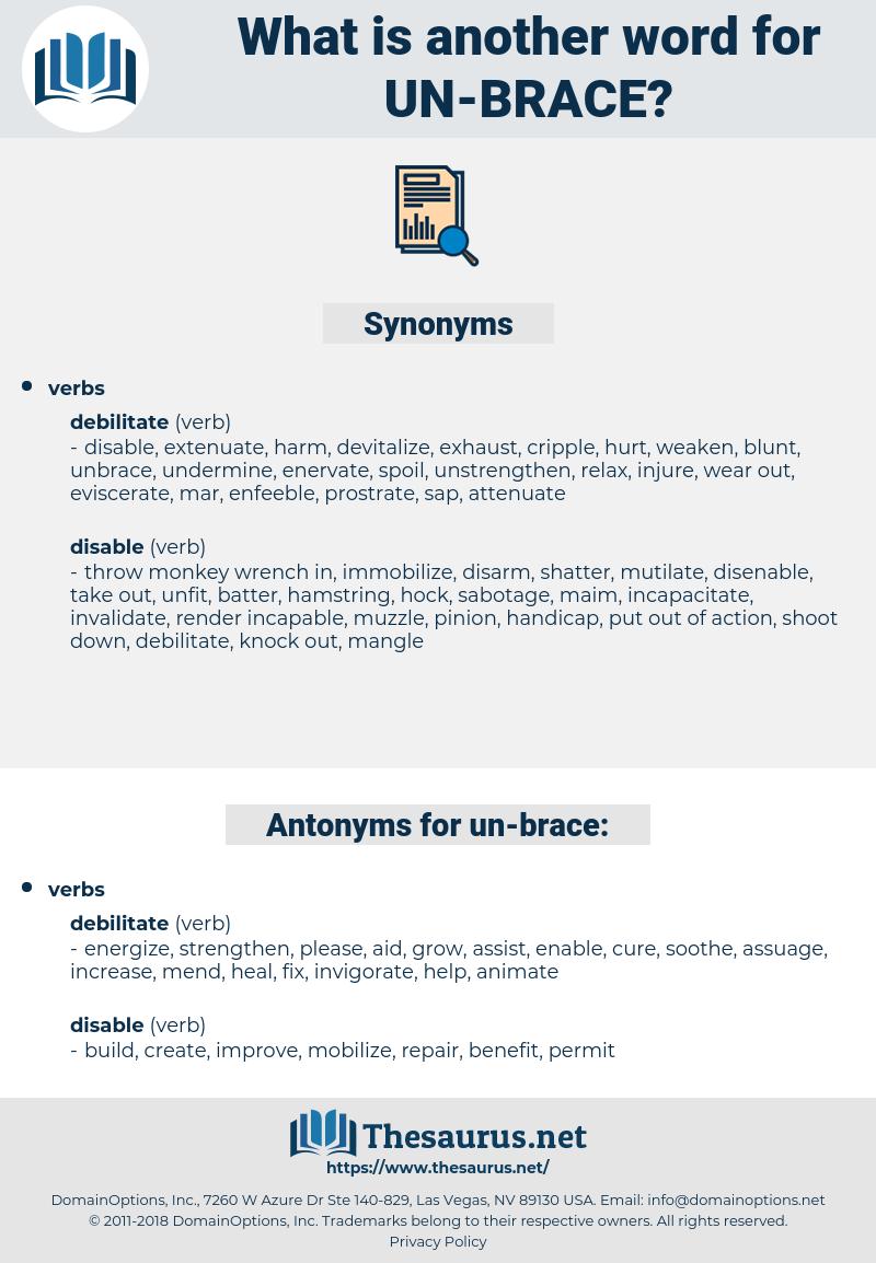 un brace, synonym un brace, another word for un brace, words like un brace, thesaurus un brace