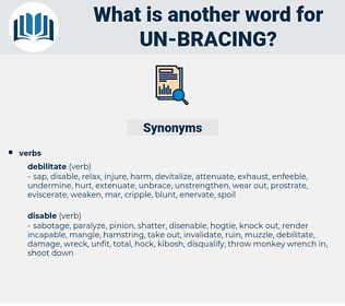 un bracing, synonym un bracing, another word for un bracing, words like un bracing, thesaurus un bracing