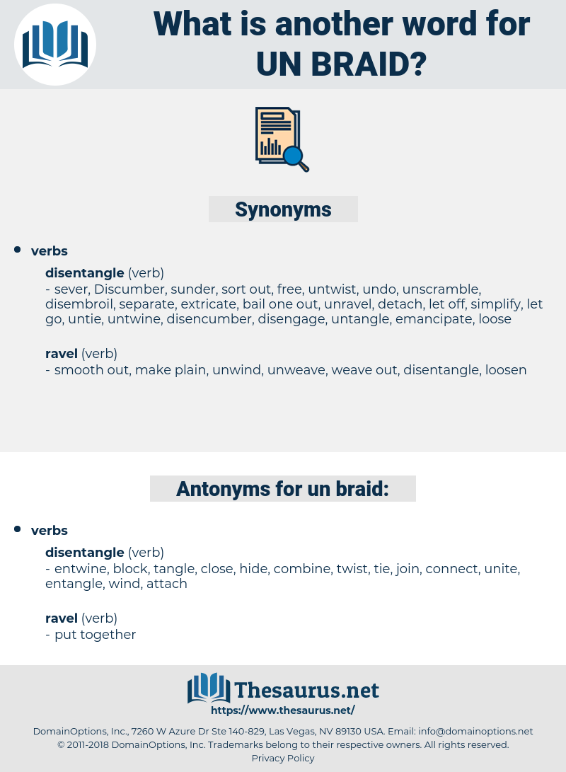 un-braid, synonym un-braid, another word for un-braid, words like un-braid, thesaurus un-braid