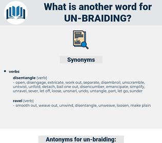 un-braiding, synonym un-braiding, another word for un-braiding, words like un-braiding, thesaurus un-braiding