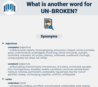un broken, synonym un broken, another word for un broken, words like un broken, thesaurus un broken