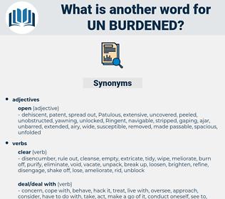 un burdened, synonym un burdened, another word for un burdened, words like un burdened, thesaurus un burdened