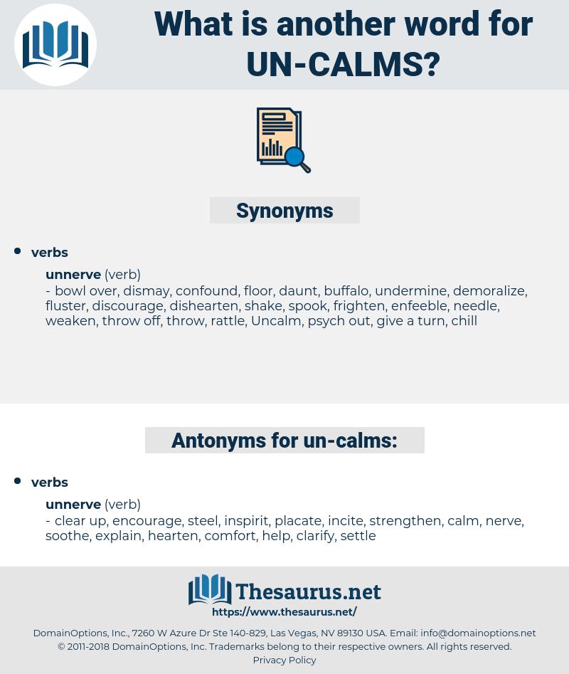 un calms, synonym un calms, another word for un calms, words like un calms, thesaurus un calms