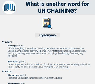 un chaining, synonym un chaining, another word for un chaining, words like un chaining, thesaurus un chaining