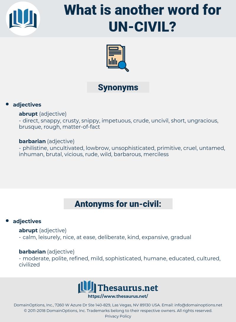 un-civil, synonym un-civil, another word for un-civil, words like un-civil, thesaurus un-civil