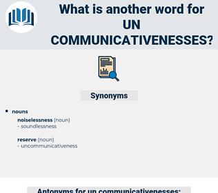 un communicativenesses, synonym un communicativenesses, another word for un communicativenesses, words like un communicativenesses, thesaurus un communicativenesses