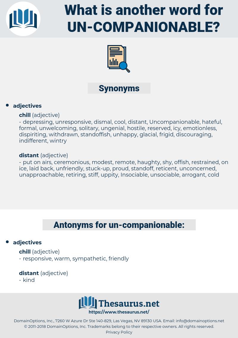 un companionable, synonym un companionable, another word for un companionable, words like un companionable, thesaurus un companionable