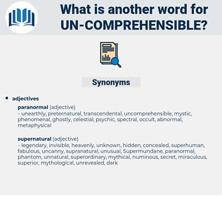 un-comprehensible, synonym un-comprehensible, another word for un-comprehensible, words like un-comprehensible, thesaurus un-comprehensible