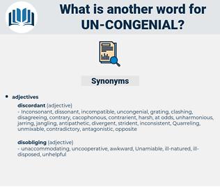 un congenial, synonym un congenial, another word for un congenial, words like un congenial, thesaurus un congenial