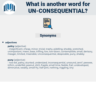 un consequential, synonym un consequential, another word for un consequential, words like un consequential, thesaurus un consequential