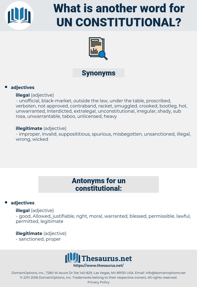 un constitutional, synonym un constitutional, another word for un constitutional, words like un constitutional, thesaurus un constitutional