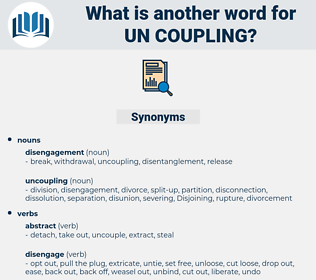 un-coupling, synonym un-coupling, another word for un-coupling, words like un-coupling, thesaurus un-coupling