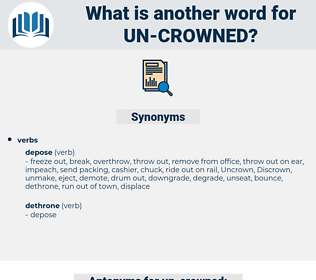 un-crowned, synonym un-crowned, another word for un-crowned, words like un-crowned, thesaurus un-crowned
