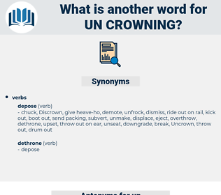 un-crowning, synonym un-crowning, another word for un-crowning, words like un-crowning, thesaurus un-crowning