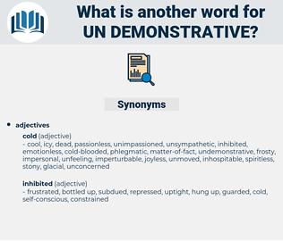 un-demonstrative, synonym un-demonstrative, another word for un-demonstrative, words like un-demonstrative, thesaurus un-demonstrative