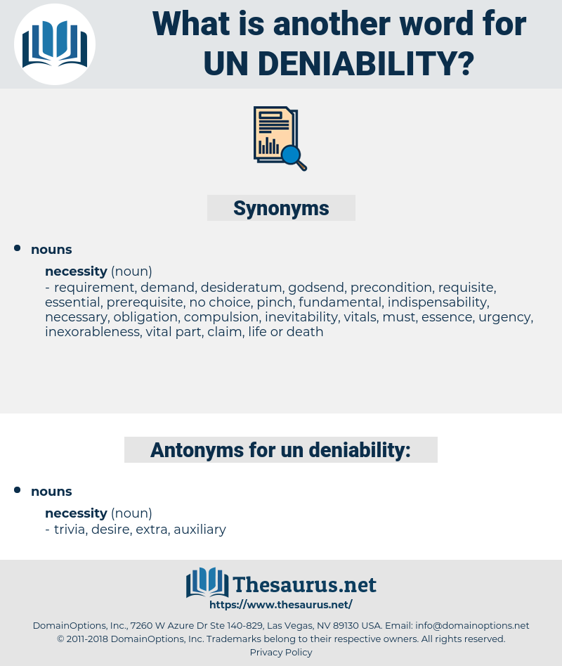 un-deniability, synonym un-deniability, another word for un-deniability, words like un-deniability, thesaurus un-deniability