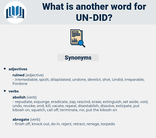 un did, synonym un did, another word for un did, words like un did, thesaurus un did