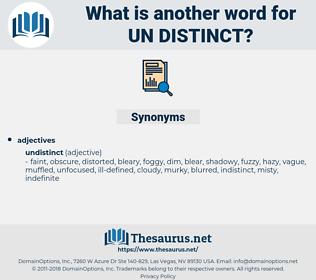 un-distinct, synonym un-distinct, another word for un-distinct, words like un-distinct, thesaurus un-distinct