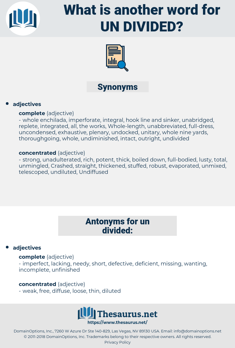 un-divided, synonym un-divided, another word for un-divided, words like un-divided, thesaurus un-divided