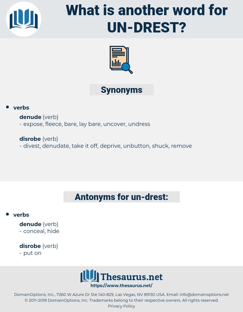 un-drest, synonym un-drest, another word for un-drest, words like un-drest, thesaurus un-drest