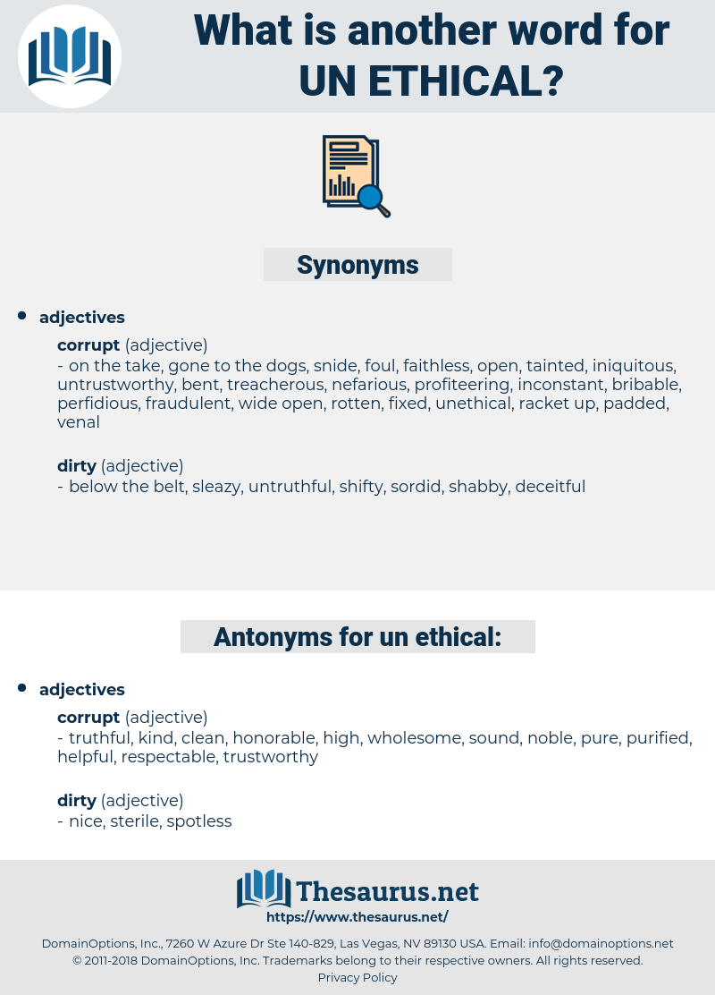 un-ethical, synonym un-ethical, another word for un-ethical, words like un-ethical, thesaurus un-ethical