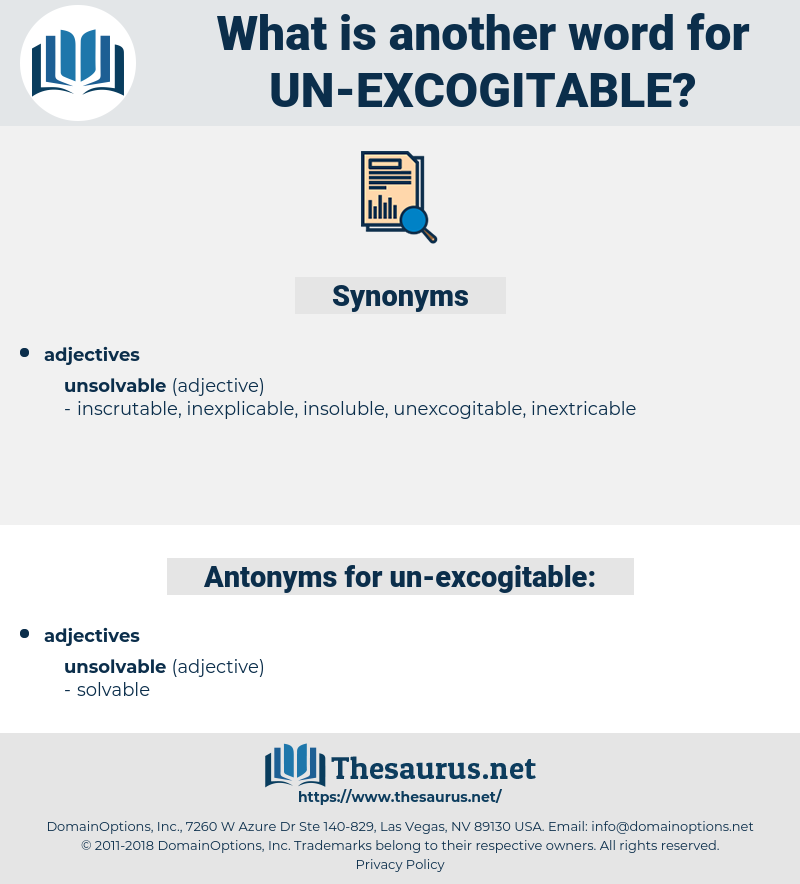 un excogitable, synonym un excogitable, another word for un excogitable, words like un excogitable, thesaurus un excogitable