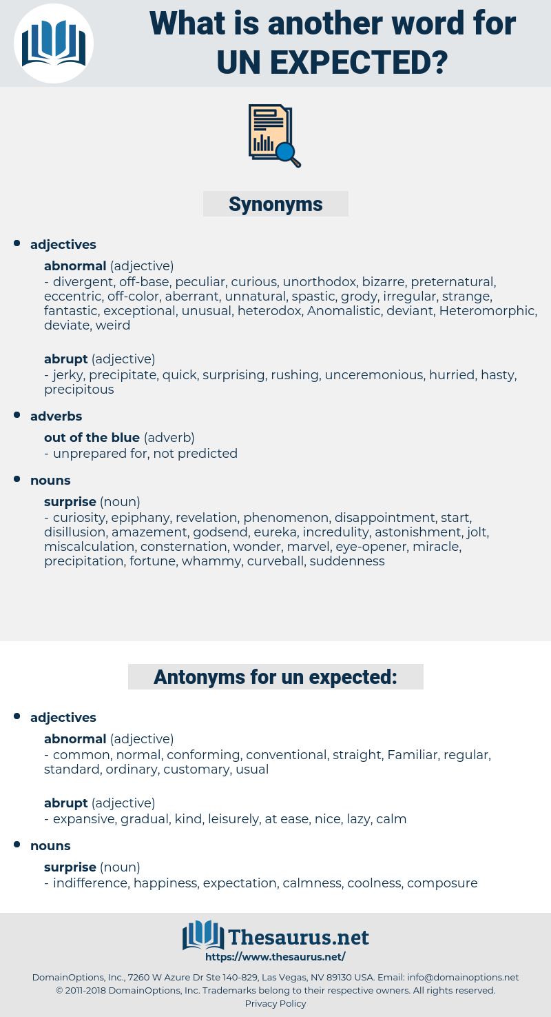 un expected, synonym un expected, another word for un expected, words like un expected, thesaurus un expected