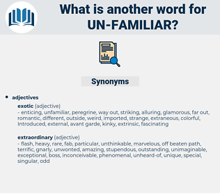 un familiar, synonym un familiar, another word for un familiar, words like un familiar, thesaurus un familiar